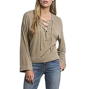 Feel the Piece Shasta Lace Up Neck Long Sleeve M/L